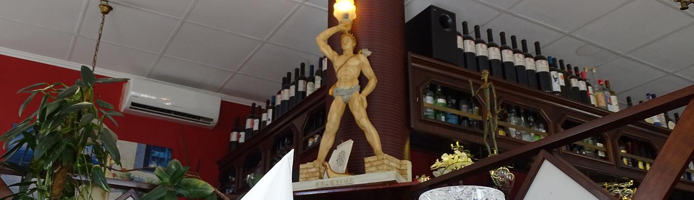 Das Wahrzeichen der Insel Rhodos ist auch in unserem Restaurant zu finden.